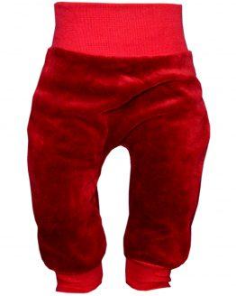 spodnie welurowe bordowe