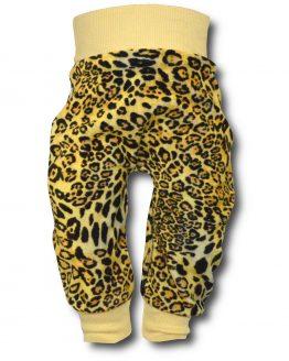 spodnie welurowe panterka