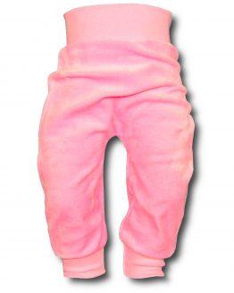 spodnie welurowe różowe