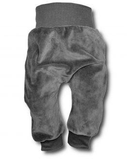 spodnie welurowe stalowe