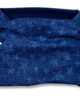 komin na szyję bawełniany jeans