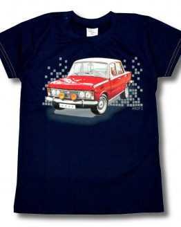 granatowy t-shirt z dużym fiatem