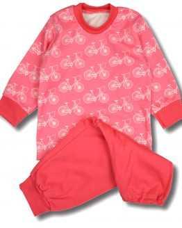 koralowa piżamka w roweki