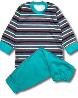 piżama w paseczki z morskimi spodenkami