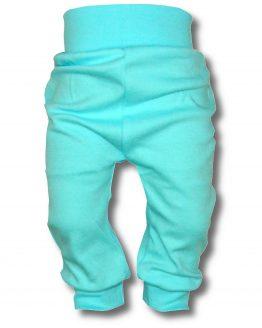 gładkie spodnie turkusowe