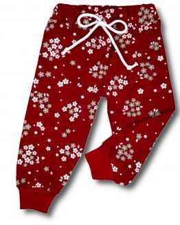 spodnie z dresówki kwiaty
