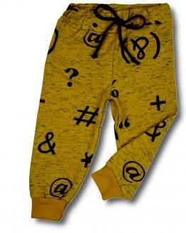 spodnie z dresówki znaki