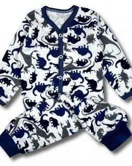 piżama kaftanik +spodnie dino 80 86 92 98 104
