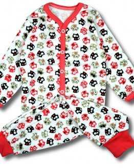 piżama spodnie +kaftanik kotki 80 86 92 98 104