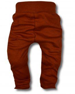 spodnie bezuciskowe brązowe 80 86 92 98 104 110