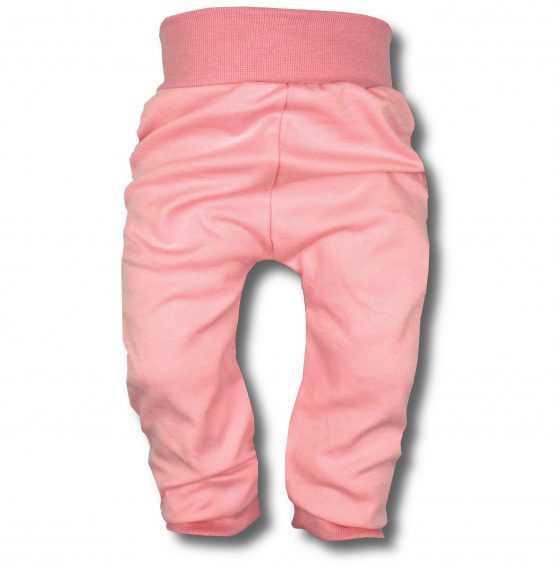 spodnie bezuciskowe pudrowy róż 80 86 91 98 104 110