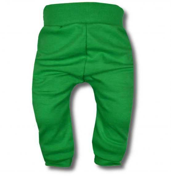 spodnie bezuciskowe zielone 80 86 92 98 104 110