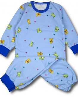 ciepła niebieska piżamka w misie