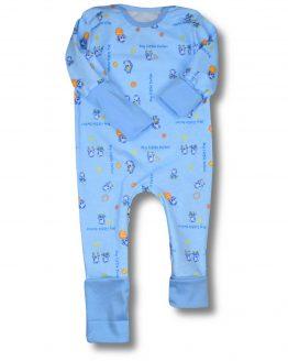 błękitny ciepły rampers rosnący z dzieckiem