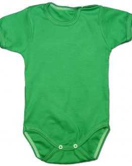gładkie zielone body z krótkim rękawem