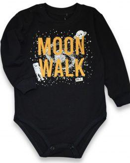 czarne body długi rękaw z nadrukiem kosmicznym moon walk