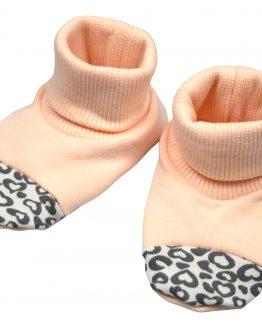 jasnoróżowe buciki niechodki bawełniane dla niemowląt