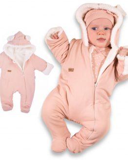 kombinezon niemowlęcy pajac ocieplany pudrowy róż NICOL sklep internetowy ciuchciuch.com