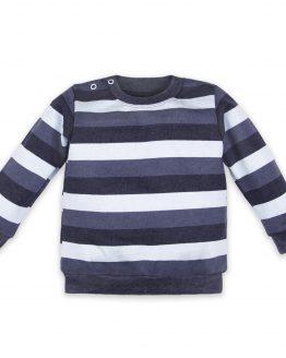 bluza sweterek w pasy granatowo-niebieskie