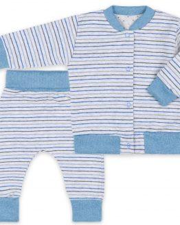 szaro-niebieski dresik niemowlęcy spodnie i bluza