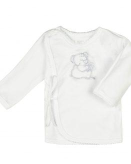 biały kaftanik koszulka niemowlęca z haftem