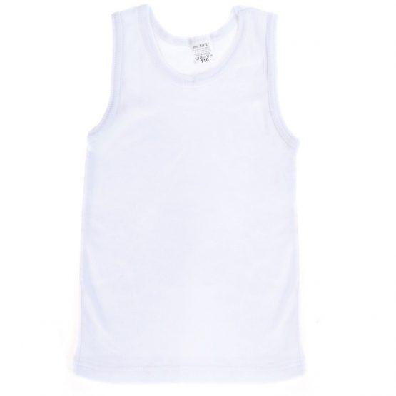 biała podkoszulka bawełniana na ramiączkach