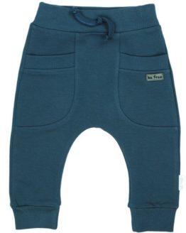 niebieski spodnie dresowe z obniżonym krokiem baggy delfin nicol