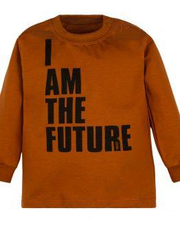 brązowa bluzka długi rękaw I AM THE FUTURE