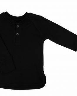 czarna gładka bluzka z długim rękawem nicol