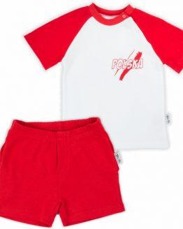 komplet polska krótkie spodenki i koszulka biało-czerwone