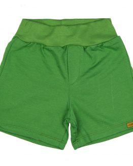 zielone krótkie spodenki z dresówki