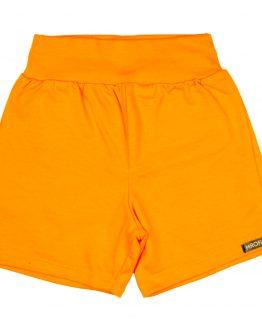 pomarańczowe krótkie spodenki z dresówki pomarańczowe