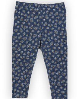 granatowe legginsy w dmuchawce dla dziewczynki