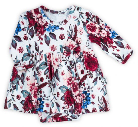 bodosukienka sukienka z body dla niemowlaka w kwiaty kate