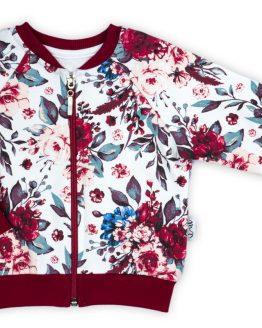 Bluza na zamek w kwiaty dla dziewczynki