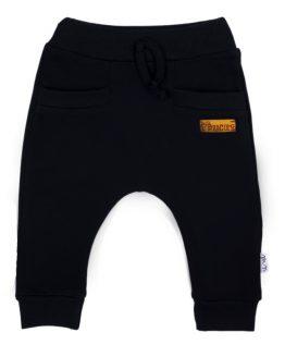 czarne spodnie dresowe baggy ocieplane meszkiem