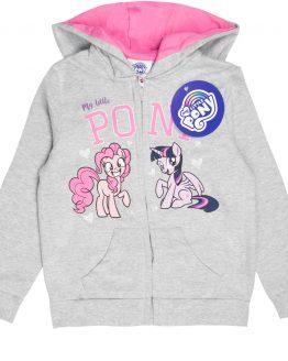 szara bluza dla dziewczynki z kapturem my little pony