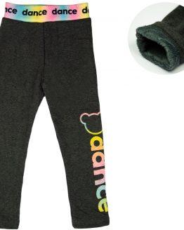 grafitowe legginsy ocieplane futerkiem bardzo ciepłe dance