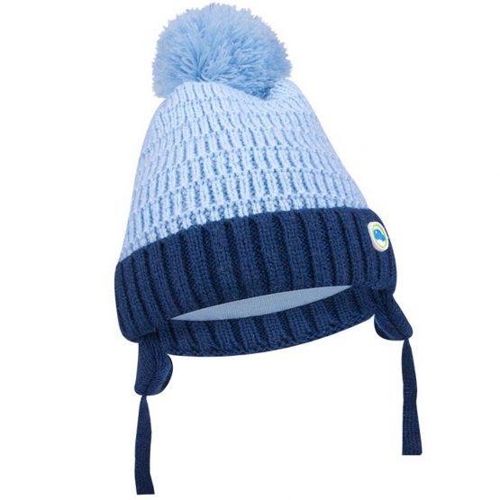 ciepła czapka zimowa dla chłopca niemowlaka wiązana