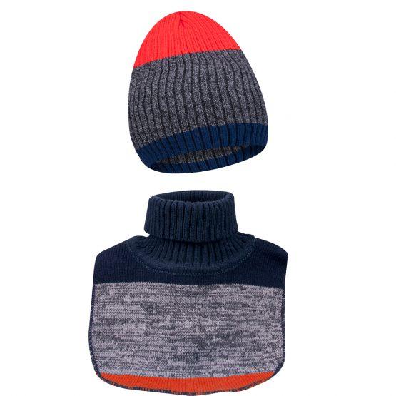 ciepły komplet dla chłopca czapka i komin golf